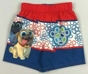 Disney Junior Puppy Dog Pals Swim Trunks Shorts UPF 50+ Size 2T or 4T Box D