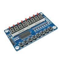 8-Bit Digital LED Tube 8-Bit TM1638 8 Key Display Module For AVR Arduino W