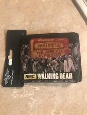 AMC The Walking Dead Warning We Are All Infected New Zombie Wallet! Fathers Day