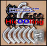 "2.5"" 63mm Aluminum Universal Intercooler Turbo Piping + Black hose+ T-Clamp kits"