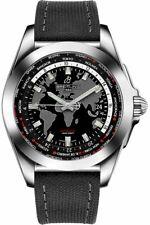 Breitling Galactic Unitime WB3510U4/BD94-109W Black Dial 44mm Men's Watch