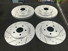 FORD MONDEO ST220 CROSS DRILLED GROOVED BRAKE DISC FRONT REAR SET