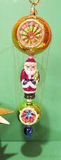 Christopher Radko Christmas Ornament Santa Claus Ball Cage Gilt Threads