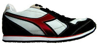 Diadora Scarpe Sneakers Pelle Tessuto Tecnico Shoes Uomo Men Casual Blu-Bianc...