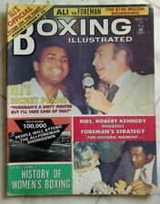 BOXING ILLUSTRATED Magazine ~ August 1974 ~ MUHAMMAD ALI, Howard Cosell, Foreman