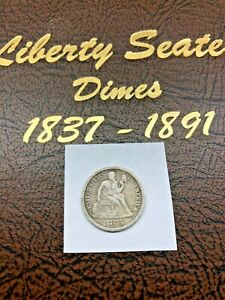 1875-S LIBERTY SEATED DIME above bow