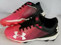 Under Armour Youth Leadoff Low RM Jr. Baseball Cleats Size 6.5Y Pink 1297316-002