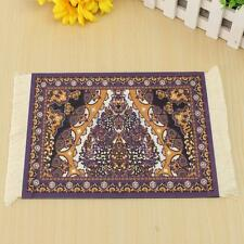Persian Style Mini Rug Mouse Pad Carpet Mousemat Gift With White Tassel 23X18cm