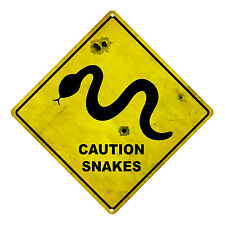 SNAKES WARNING AUSTRALIAN ROAD SIGN SNAKES CAUTION SOUVENIR WARNING TIN SIGN