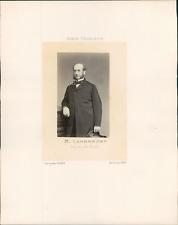 Corps Législatif, France, Félix Lambrecht (1819-1871) député du Nord Vintage alb