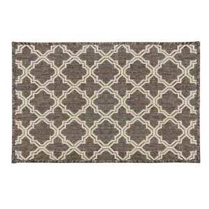 Kitchen Floor Area Rug Mat 66cm x 120cm Rubber Back Moroccan Grey Brown W71 9992