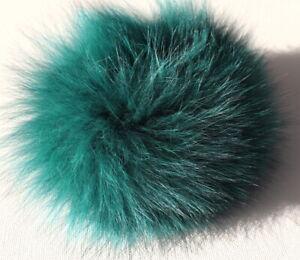Fur Hair Bands Blue Fox Bracelet Cuff Hair Jewelry Trim Coat Teal Green
