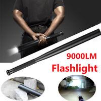 9000LM Baseball Bat LED Flashlight XML-T6 AA/14500 18650 Defend Torch Light