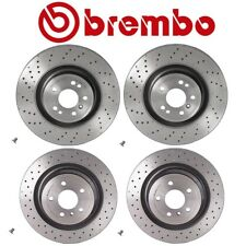 For Mercedes W166 ML250 ML350 Front & Rear Disc Brake Rotors Drilled Kit Brembo