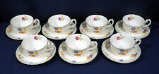 Vintage Grindley China The Primula 7 Cup and + Saucer Sets Excellent Condition
