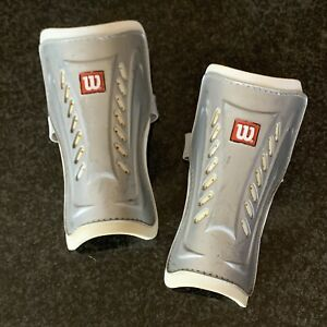 Wilson Youth Soccer Shin Guards Silver Girls Boys Unisex Protective Sports Gear