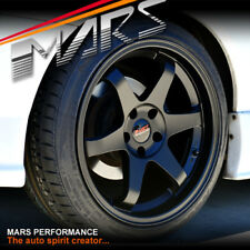 MARS MP-37 18 inch JDM Black STAG Alloy Wheels Rims 5x114.3 Z33 R34 R33 S15 TE37