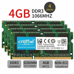 16GB 4x 4GB DDR3 PC3-8500 Memory Ram For Apple iMac 21.5-in & 27-in Late 2009
