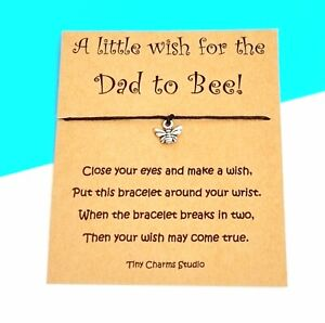 A Little Wish For A New Dad Wish Bracelet Baby Shower Gift Dad To Be Keepsake