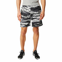 Adidas Men Training Shorts Essentials Print Camouflage Climalite Running AY9102
