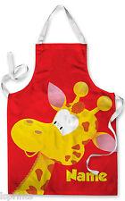 PERSONALIZZATO CARTONE giraffa bambini grembiule cottura al forno PITTURA acqua