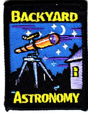 """BACKYARD ASTRONOMY"" - Iron On Embroidered Applique Patch/School, Learning"