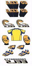 NRL Parramatta Eels Retro Design Tattoo Sheet