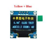 "0.96"" Yellow&Blue OLED I2C IIC Serial LCD LED Arduino Display Module SSD1306"