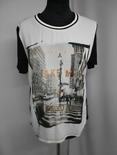 b.young T-Shirt schwarz/weiß Galonstreifen Gr.S (Z69)