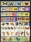 Beauitiful butterflies on stamps mnh vf sets on 2 pages