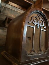 Very Rare Antique Field Coil Speaker in Wooden Cathedral Case