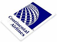 Continental Airlines Aviation Pilot Airport Retro Tin Metal Sign