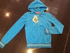 "NWT Juicy Couture New & Gen. Ladies Small Blue Towelling Hoody With ""J"" Pull"