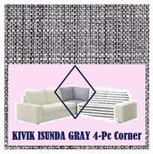IKEA Kivik Corner Sofa 4-Piece Cover Isunda Gray Slipcover NEW Solely for CORNER