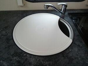 Plastic Chopping Board Swift Sterling Caravan Motorhome Round Kitchen Sink CSCB1
