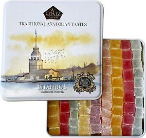 Cerez Pazari Turkish Delight Candy Gift Basket, Gourmet Lokum Dessert 90 pc 1Kg
