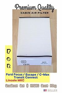 PremiumQuality Cabin Air Filter C36174 for Ford Focus Escape C-Max Transit / MKC