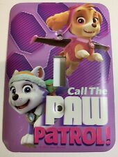 Paw Patrol Metal Light Switch Cover Plate Call The Paw Patrol Dogs Purple *New*