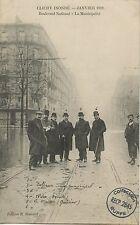 CARTE POSTALE PARIS CRUE DE LA SEINE 1910 CLICHY BOULEVARD NATIONAL MUNICIPALITE