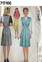 VTG Sewing Pattern McCall #5583 Size 14 Waist 26-1/2 Skirt or Jumper Unused 1940