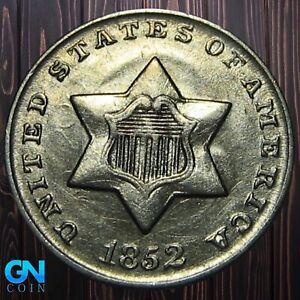 1852 3 Cent Silver Piece  --  MAKE US AN OFFER!  #K6039