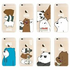 23b1c07da2 WE BARE BEAR CARTOON DESIGN TPU GEL SOFT BACK CASE FOR IPHONE XS X 8 7