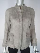 NWT EILEEN FISHER PS Beige Linen Jacket Button Front Shirt EUC Petite Small NEW