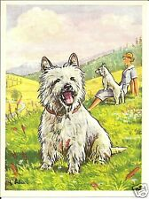 1952 Dog Art Print Austria Tobacco Company Bildwerk West Highland White Terrier