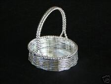 Small Silver Plated Basket  Wedding Shower Party Favor