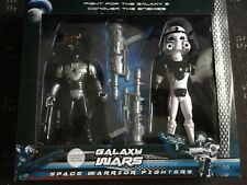Galaxy Wars Space Warrior Fighters - Plastic Set of 2 sci-fi Action Figures New