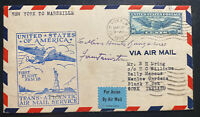 1939 New York USA First Transatlantic Flight Cover To Gork Ireland FAM 18