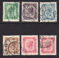 Austria Set of 6 Stamps (with bars) c1905-07 Used (45)