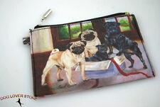 Pug Dog Bag Zippered Pouch Travel Makeup Coin Purse