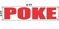 Poke Banner Sign 2x8 for Business Shop Building Store Front Restaurant Tuna